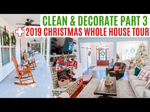 CHRISTMAS CLEAN & DECORATE WITH ME PART 3 + 2019 WHOLE HOUSE TOUR // ENTIRE HOUSE TOUR Amy Darley