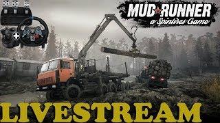 SpinTires: MudRunner | Downhill Part 1 | Livestream | PC Gameplay