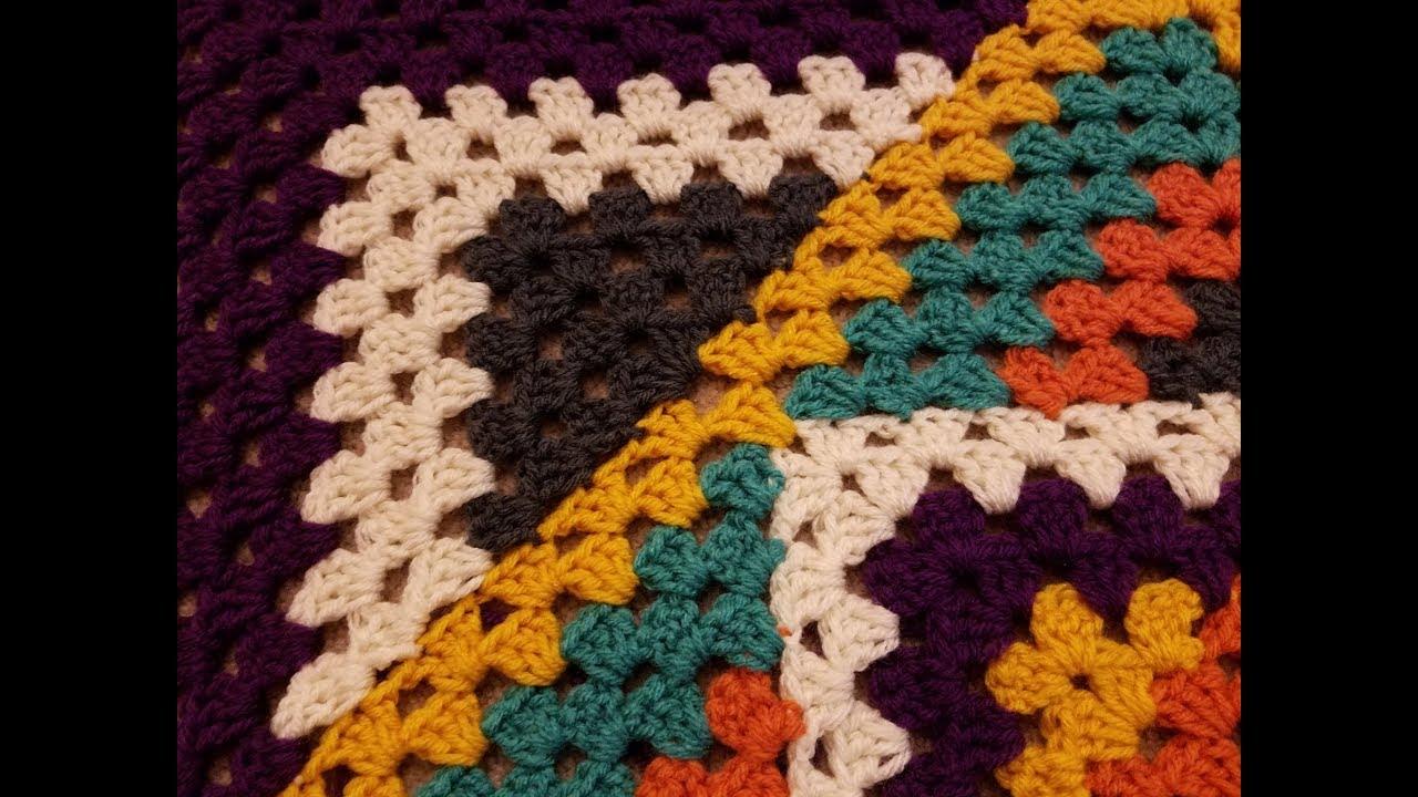 Kaleidoscope Granny Square Blanket Crochet Along Pt 3 1