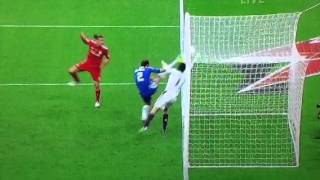 Andy caroll disallowed goal FA cup 2012