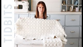 DIY Bath mat pillow