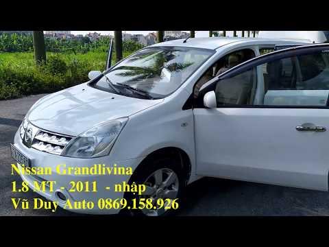 Nissan Grandlivina cũ 2011, xe 7 chỗ nhập khẩu nhật bản rộng rãi tiện nghi, máy khỏe, bền bỉ.