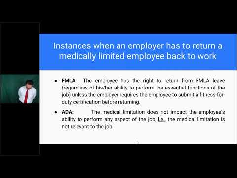 Implementing a Successful Return to Work Program