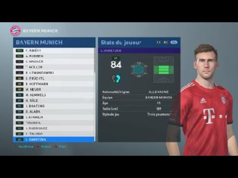 [PES 2019] FC BAYERN MÜNCHEN created players stats