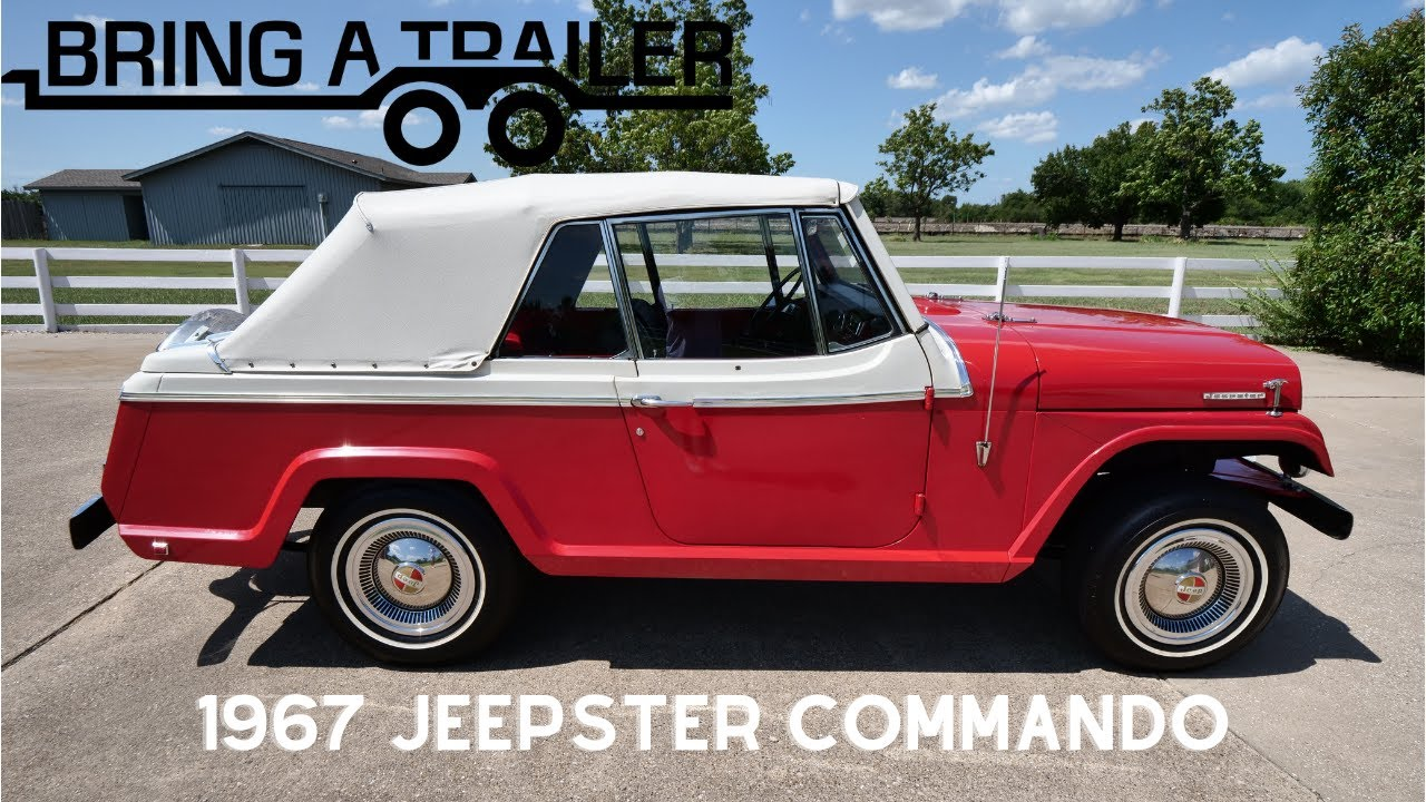1400-Mile 1967 Jeepster Commando on Bring-A-Trailer