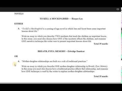 csec english b 2018 paper 2 section c youtube
