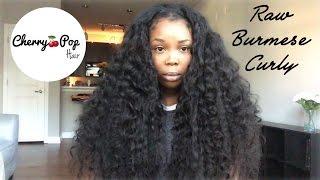 RAW VIRGIN HAIR!!! | Burmese Curly | Cherry Pop Hair