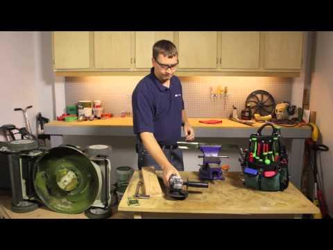 How to Sharpen Electric Mower Blades : Lawnmower Maintenance & Repair