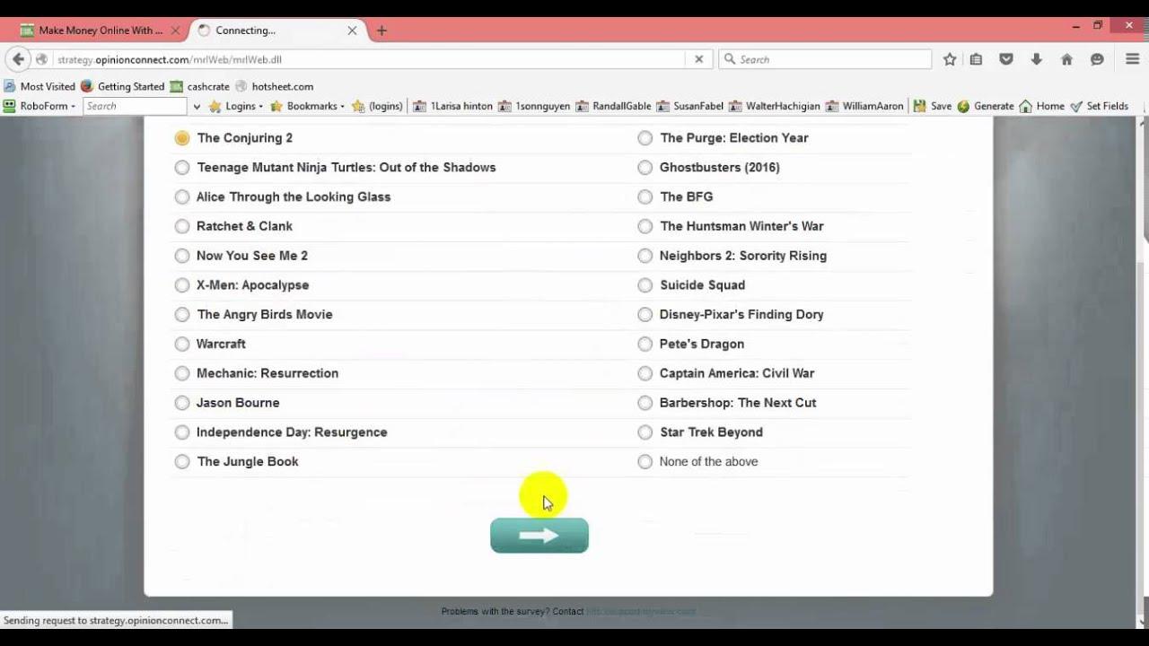 Live sample opinionconnect movie survey - YouTube
