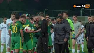 Напрежение между играчите на Славия и Тобол