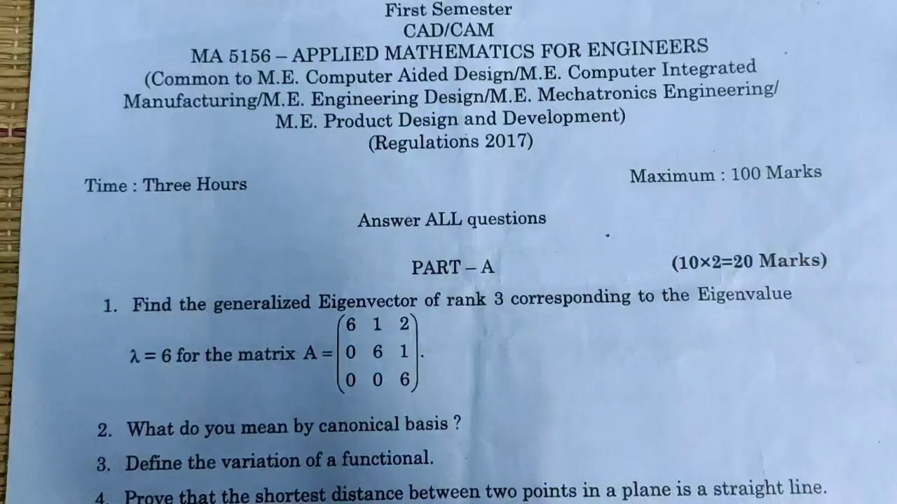 Applied Mathematics For Engineers Maths For M E Maths For Engineering Pg Youtube