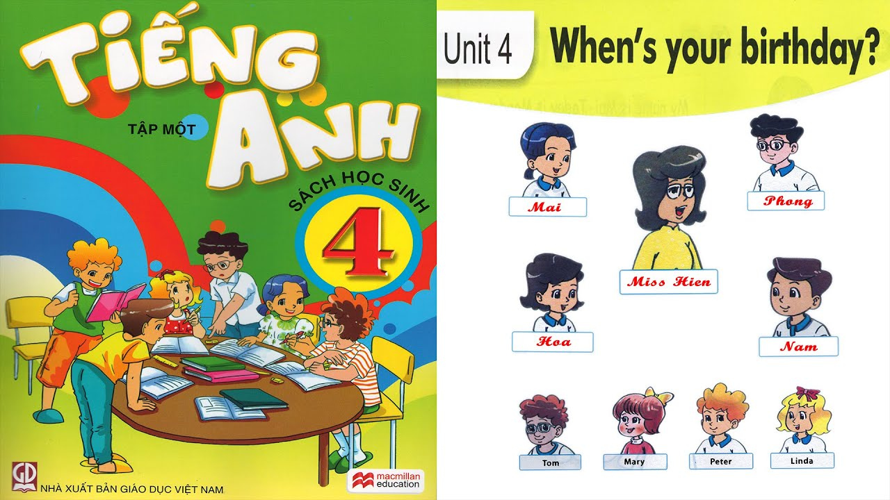 Tiếng Anh Lớp 4: Unit 4 WHEN'S YOUR BIRTHDAY – FullHD 1080P