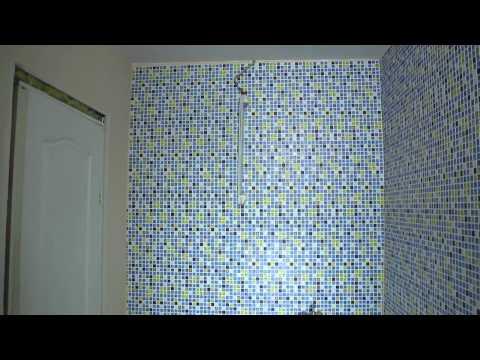 Монтаж панелей ПВХ мозаика