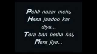 A Bazz Pehli Nazar Me Lyrics By Abhishek   YouTube