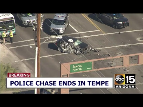 LIVE: DANGEROUS CAR CHASE! Police pursue vehicle in Phoenix area