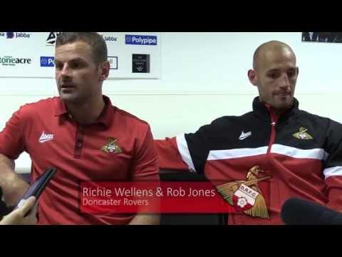 Richie Wellens and Rob Jones post Leeds United