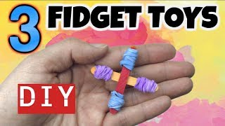 3 EASY DIY FIDGET TOYS – NEW FIDGET TOYS FOR SCHOOL – HOW TO MAKE STIM TOYS FROM HOUSEHOLD ITEMS