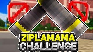 OHA ZIPLAMAMA CHALLENGE! - Minecraft SKYWARS