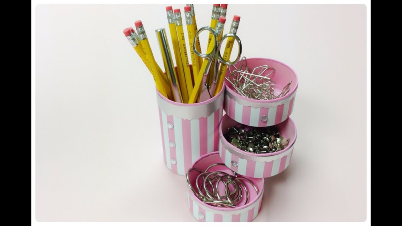 Diy craftshow to recycle tin cans to make a pencil holder or desk diy craftshow to recycle tin cans to make a pencil holder or desk organizer youtube solutioingenieria Images