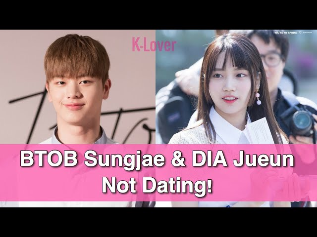 And it turns out that the whole dating rumor started after a news agency published an article claiming that SungJae and JuEun began getting in..