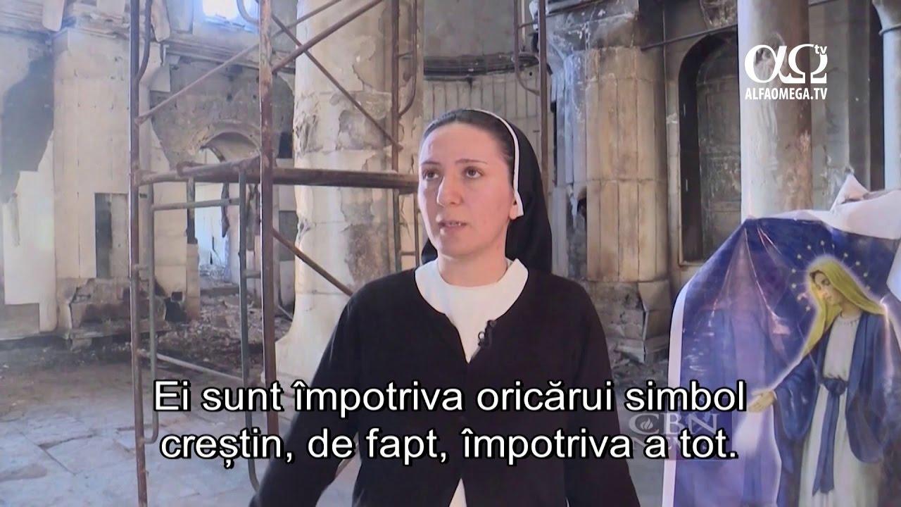 Qaraqosh, Irak, oras devastat de SIIL - cea mai mare biserica din Orientul Mijlociu distrusa