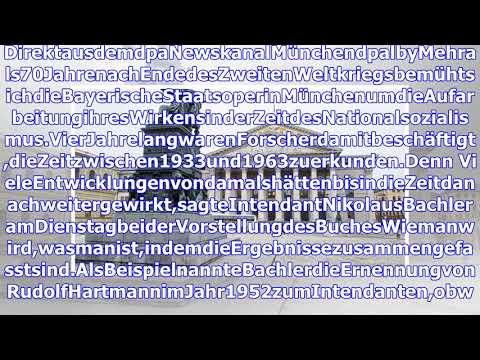 Buch zeigt Bayerische Staatsoper in der NS-Zeit und danach