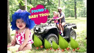 Epic Find! Real Life Baby Troll in the Woods!! Gav and Gia make a HUGE Discovery!