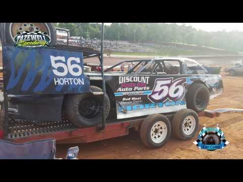 #56 Tony Horton - Super Stock - 7-2-17 Tazewell Speedway - In-Car Camera
