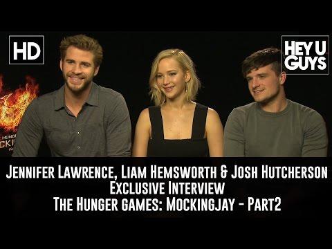 Jennifer Lawrence, Liam Hemsworth & Josh Hutcherson Interview - The Hunger Games Mockingjay Part 2