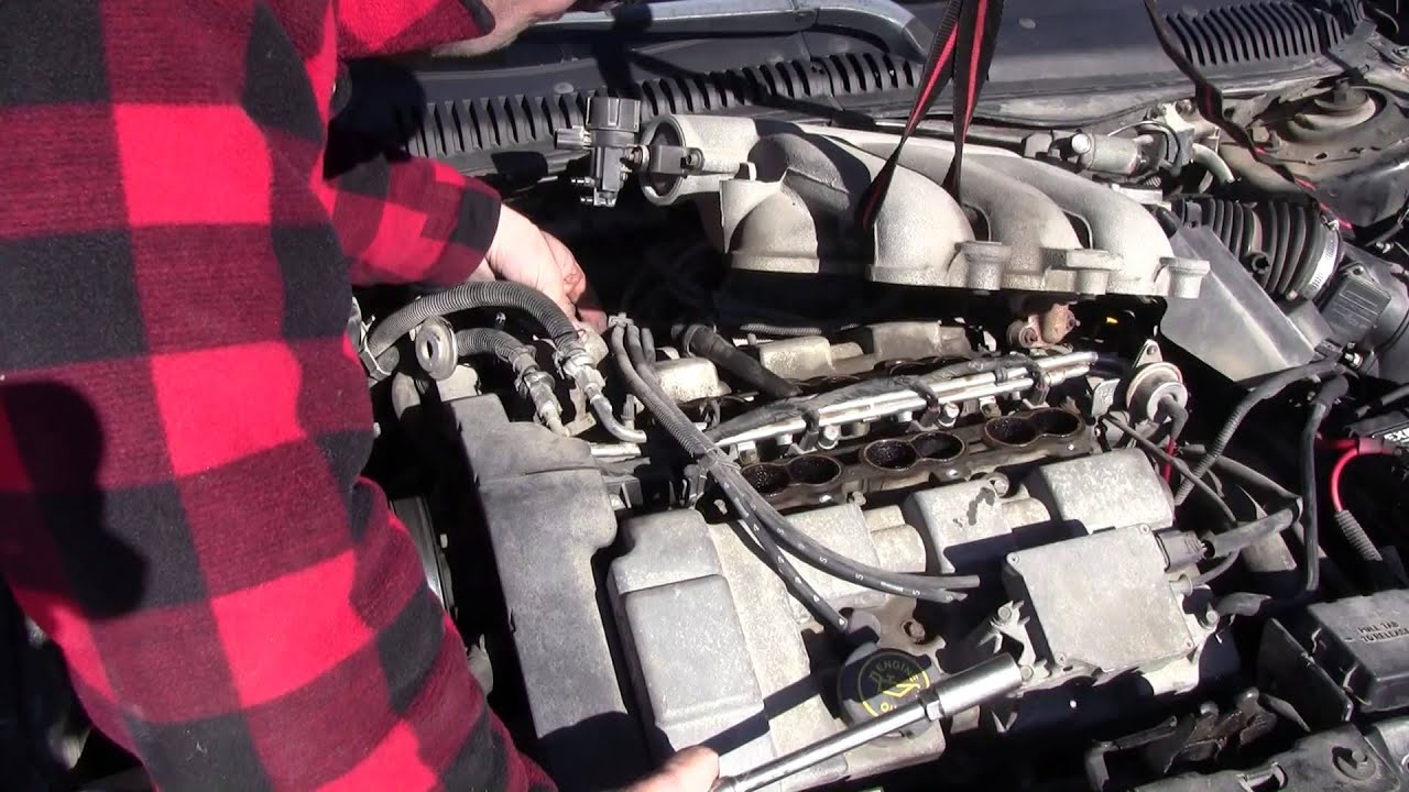 ford taurus spark plug wire diagram  intake plenum and spark plug removal on a 1998 ford taurus on 2007 ford taurus