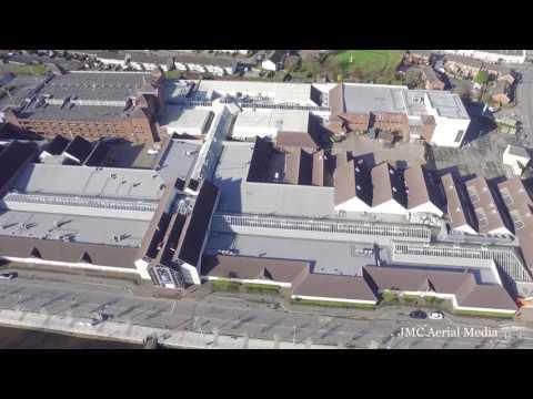 Newry City Ireland Drone View