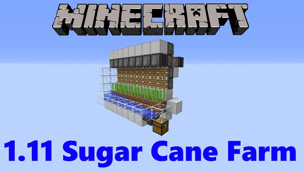 Minecraft 1 11 Observer Block Sugar Cane Farm Working In