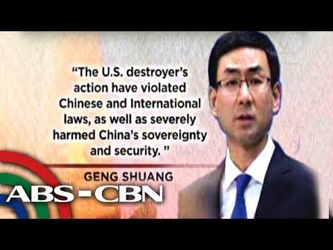 Bandila: Tsina, umalma sa paglalayag ng U.S. destroyer malapit sa Mischief Reef