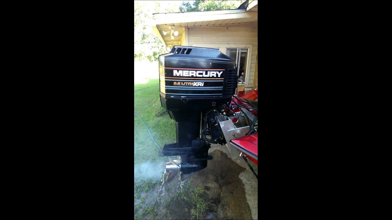 90 Hp Mercury Outboard >> Mercury 150hp XRI Fuel Injection - YouTube