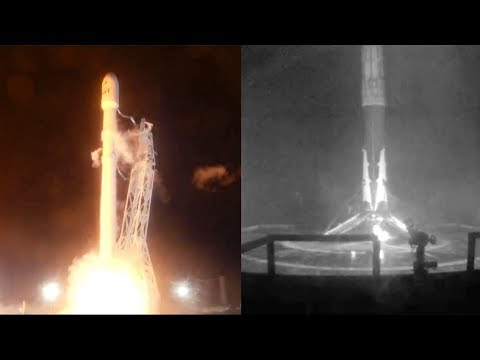 SpaceX Falcon 9 launches Iridium-3 & Falcon 9 first stage landing, 9 October 2017