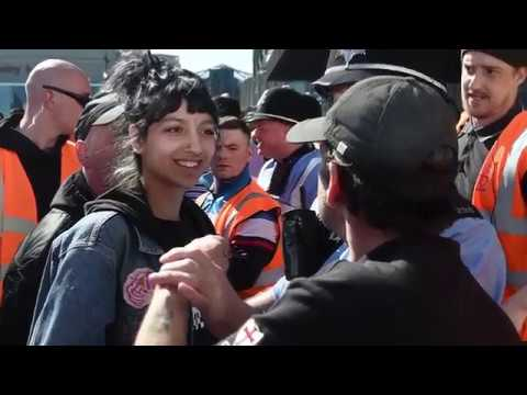 Asian woman takes on EDL leader