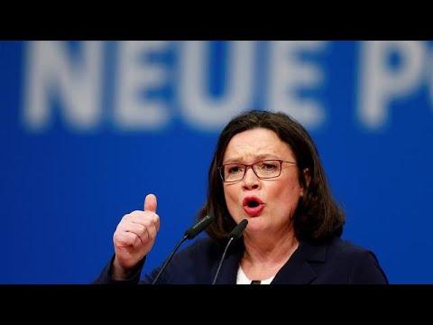 Pour la première fois, le SPD hisse une femme à sa tête