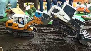 FUNNY FIGHT WITH TRACK LOADERS LIEBHERR 634