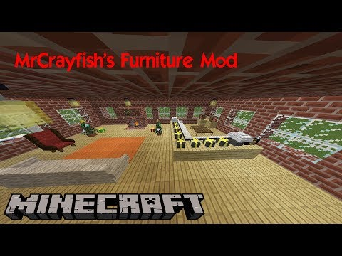 מיינקראפט- מדריך מוד רהיטים 1.11.2 (MrCrayfish's Furniture Mod)