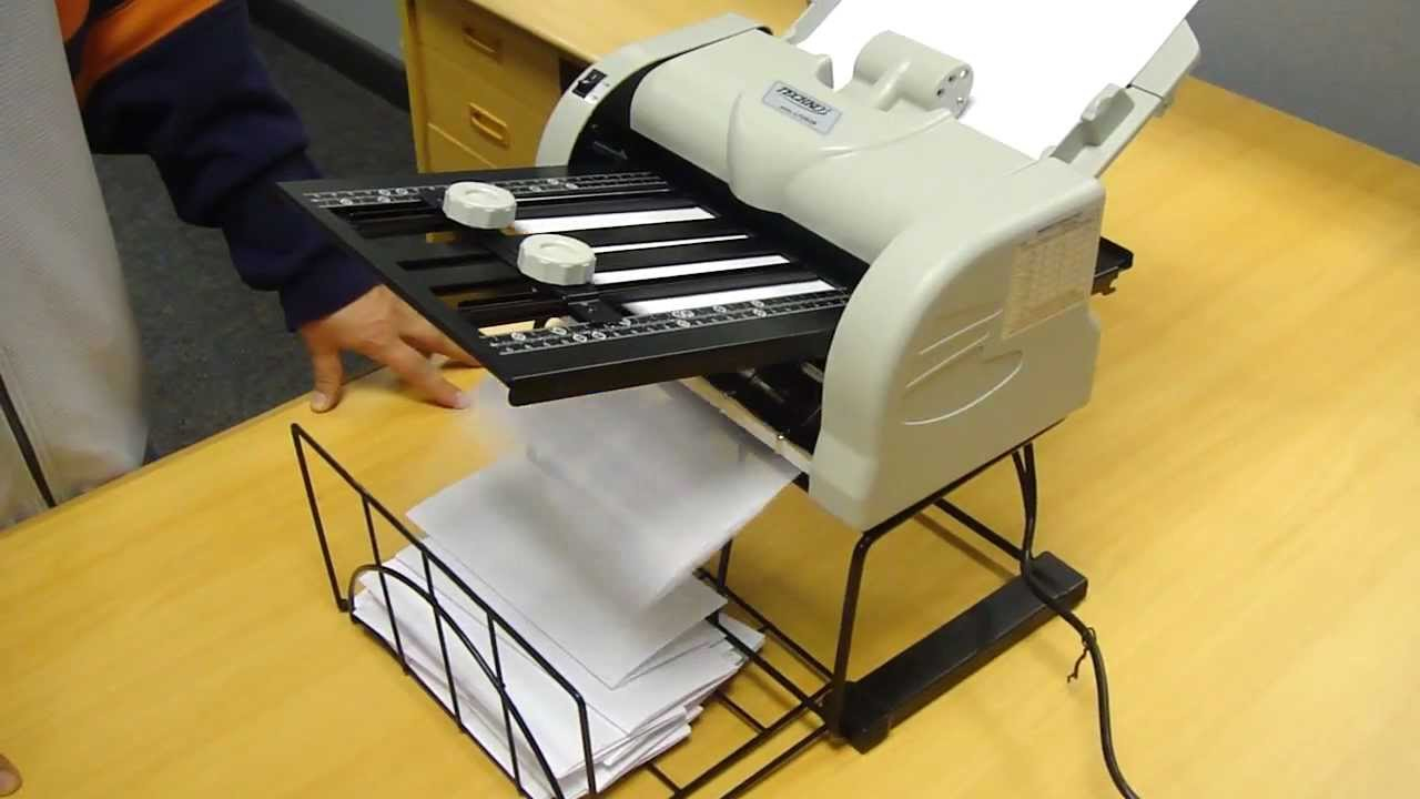 techko maid lf283b letter folding machine video mp4