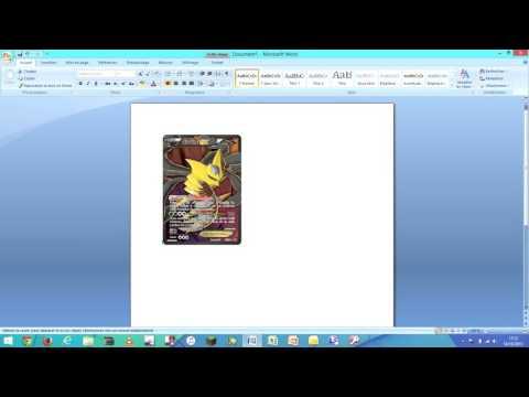 Comment Bien Imprimer Sa Fausse Carte Pokemon Youtube