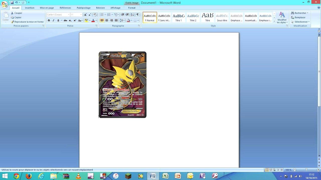 Top Comment bien imprimer sa fausse carte Pokemon - YouTube CN91