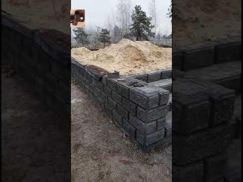 Фундамент 10×11 своими руками з рваних блоков.
