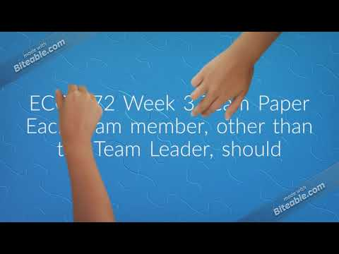 ECO 372 Week 3 Team Paper|Papers|New course|Fast delivery