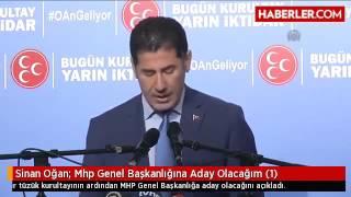 Sinan Oğan MHP genel başkanlığına aday #OAnGeliyor