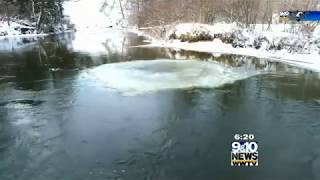 Northern Michigan in Focus: Spinning Ice Circle