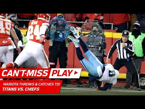 Marcus Mariota Throws a TD to HIMSELF on this Crazy Play! 🦄 | Can