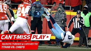 Marcus Mariota Throws a TD to HIMSELF on this Crazy Play! 🦄 | Can't-Miss Play | NFL Wild Card HLs thumbnail