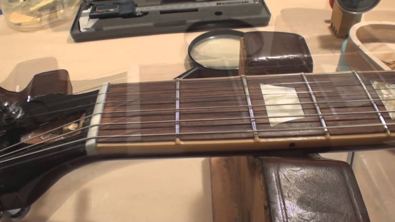 First Fret Guitar String Action Youtube