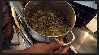 Cook with Solo!  Sukuma Wiki!!  (Kenyan Greens)
